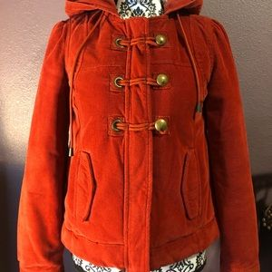 Mossimo Supply Co. Red corduroy toggle button coat